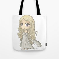mother of dragons Tote Bags featuring Mother of Dragons by ScottyTheCat