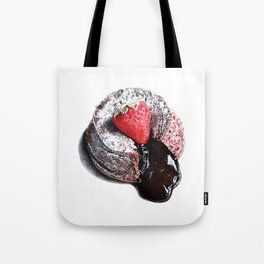 Lava cake with strawberry  Tote Bag