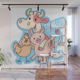 Go Vegan Animals Wall Mural