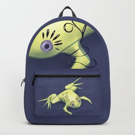 Funny Frog With Fancy Eyelashes Digital Art Backpack