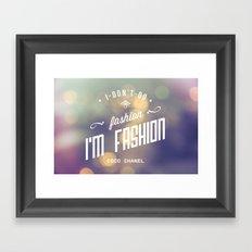 Bokeh fashion Framed Art Print