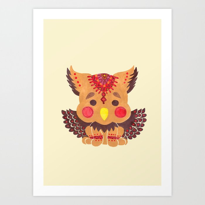The Baby Griffin  Art Print
