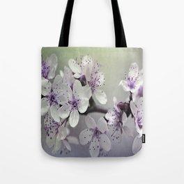 Misty Flowers Tote Bag