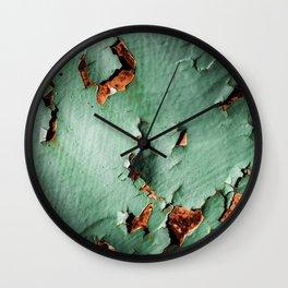 Cool turquoise brown rusty metal Wall Clock