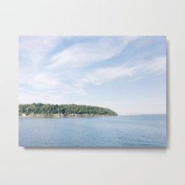 Tree-Lined Island, Washington Metal Print