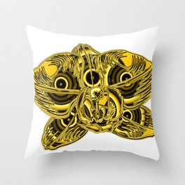 """""""Gold"""" Orchid Flower Special Edition 2 (Clear Back) Throw Pillow"""