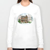 victorian Long Sleeve T-shirts featuring Victorian Winter by Shelley Ylst Art