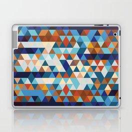 Geometric Triangle Blue, Brown  - Ethnic Inspired Pattern Laptop & iPad Skin