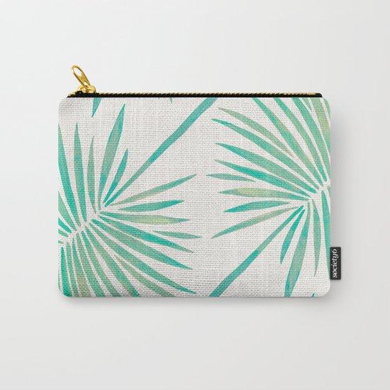 Tropical Fan Palm – Mint Palette Carry-All Pouch
