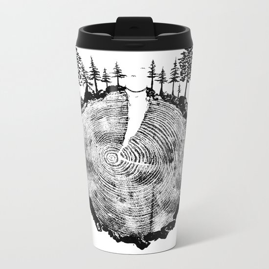Over the River and Through the Woods Metal Travel Mug