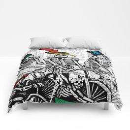 Calavera Cyclists Comforters
