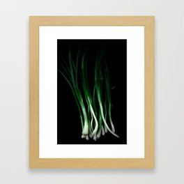 Green onion Framed Art Print