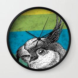 Tropical macaw Wall Clock