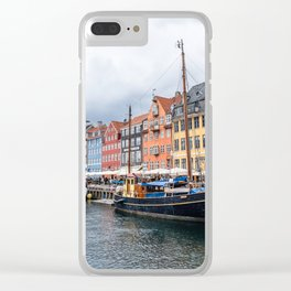 Nyhavn waterfront in Copenhagen Clear iPhone Case