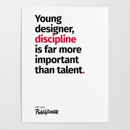Young Designer — Advice #10 Poster