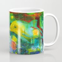 dolphin Mugs featuring Dolphin by Silke Powers