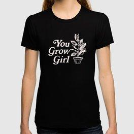You Grow Girl Blue & Cream T-shirt