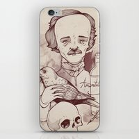 poe iPhone & iPod Skins featuring Poe by hatrobot