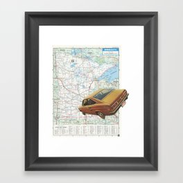 Middle west Framed Art Print
