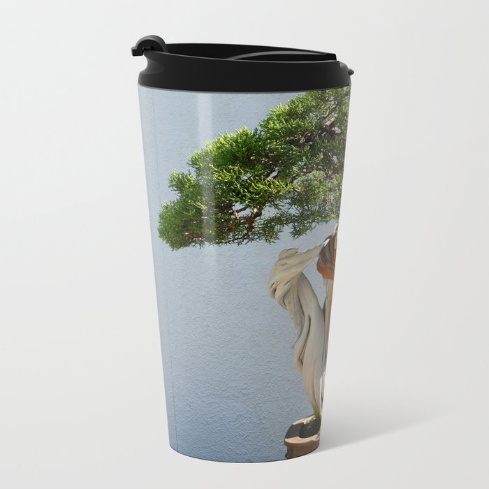 Natural Knot Metal Travel Mug