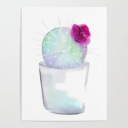 Watercolour Cactus no 1 Poster