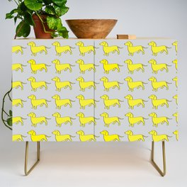 Doxie Love - Grey and Yellow Credenza
