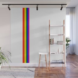 gay flag on white background Wall Mural