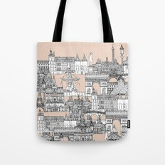 Paris toile sugar pink Tote Bag