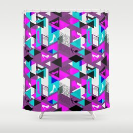 High Heels Geometric Pattern Shower Curtain