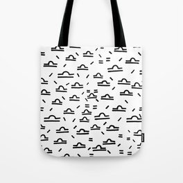 Libra Symbol Pattern Simple Black and White Drawn Tote Bag