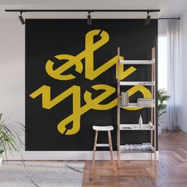 Oh Yes Awesome Typography Wall Mural