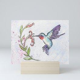 Winsome Hummingbird Mini Art Print