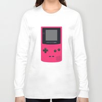 gameboy Long Sleeve T-shirts featuring GAMEBOY Color - Pink Version by Cedric S Touati