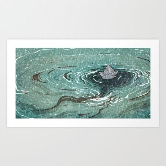 Paper Sailor // 2015 Art Print