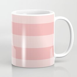 Large Blush Pink Glossy Cabana Tent Stripes Coffee Mug