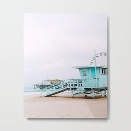 Santa Monica Pier Lifeguard Metal Print