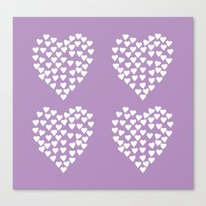 Hearts Heart x2 Radiant Orchid Canvas Print