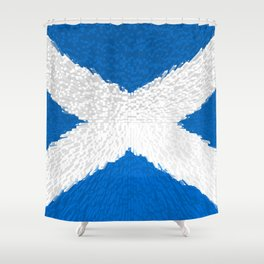 Extruded flag of Scotland Shower Curtain