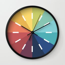 Modern Color Wheel Wall Clock