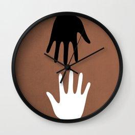 Hands of friendship Wall Clock