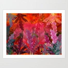 """Pink Scifi Tropical Jungle"" Art Print"
