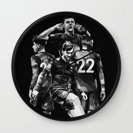 Chelsea on bLack white  Wall Clock