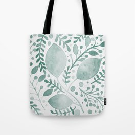 Branches and leaves - greish teal Tote Bag