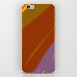 Ethnic gold lines, sah. gold look vint. iPhone Skin