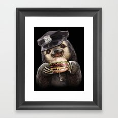 BURGER COP Framed Art Print