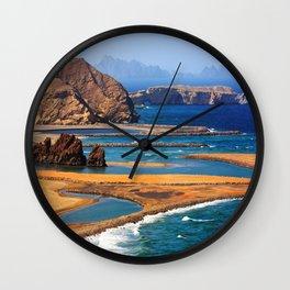 Yiti Beach Oman Wall Clock