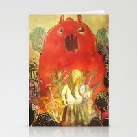 nightmare Stationery Cards featuring nightmare by Oscar Civit