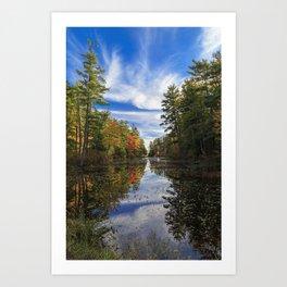 Pawtuckaway State Park in October Art Print