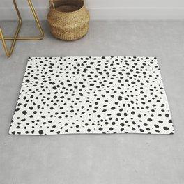 Dalmatian Spots - Black and White Polka Dots Rug
