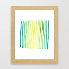 Yikes Stripes! Framed Art Print